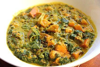 Kürbis-Spinat-Eintopf mit Linsen, ein leckeres Rezept aus der Kategorie Eintopf. Bewertungen: 99. Durchschnitt: Ø 4,4.