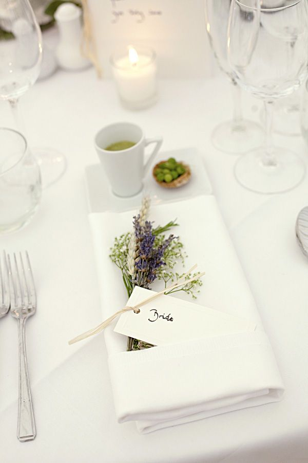 Lavender.... pretty for a dinner party or something!