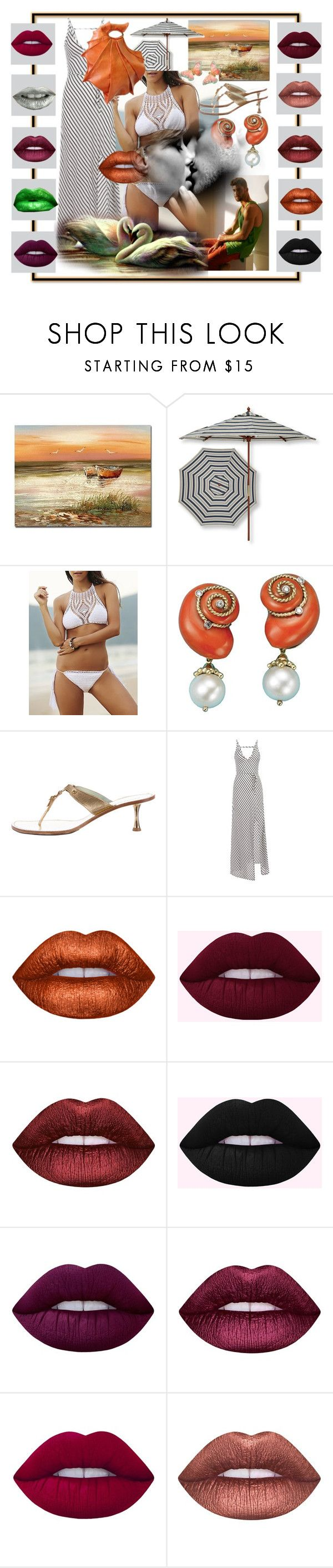"""""""DREAM BEACH HOUSE"""" by oliviaoistrach ❤ liked on Polyvore featuring Trademark Fine Art, L.L.Bean, Sigerson Morrison and Lime Crime"""