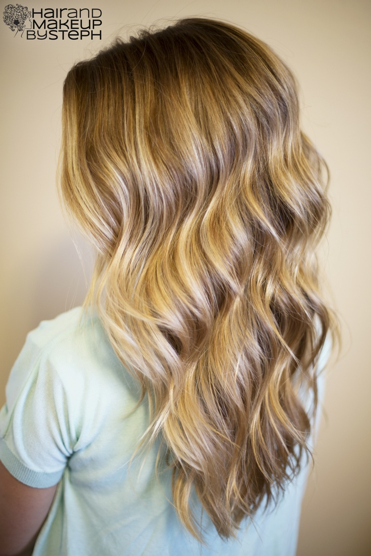 Curls created with the José Eber Trio clipless curling iron.  blog.hairandmakeupbysteph.com: Hairstyles, Blonde, Beach Waves, Hair Styles, Hair Makeup, Curling Wands, Pretty Waves, Hair Color, Curling Iron