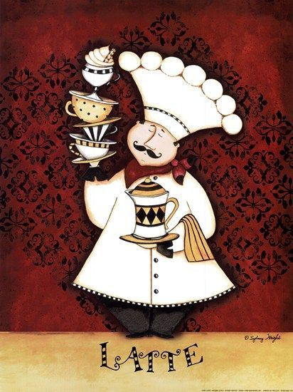 Chef Clip Art | Chef Latte by Sydney Wright art print