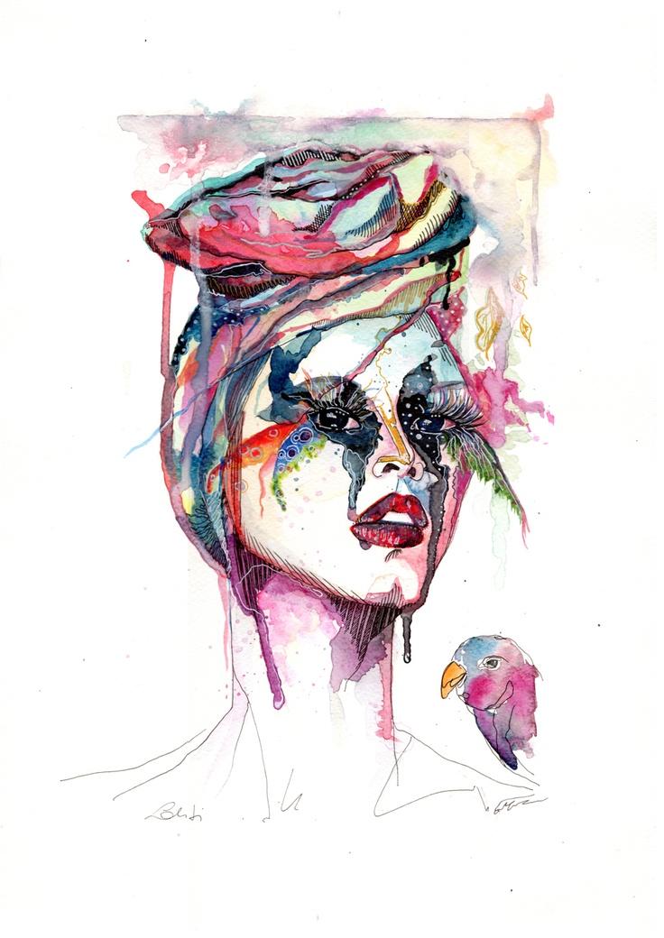 ...Because I Love color | watercolor illustration by Valentina Lo Criti