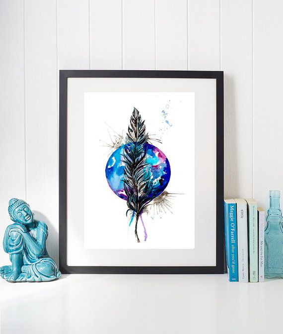 Beautiful Boho feather https://www.etsy.com/uk/listing/468191671/planet-feather-blue-and-purple-feather