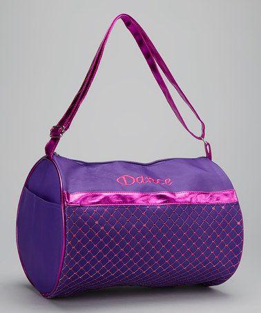 ... at this #zulilyfind! Purple  Fuchsia 'Dance' Duffel Bag #zulilyfinds