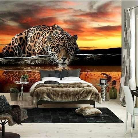 10 mejores im genes de decoraciones tigre en pinterest for Murales en paredes interiores