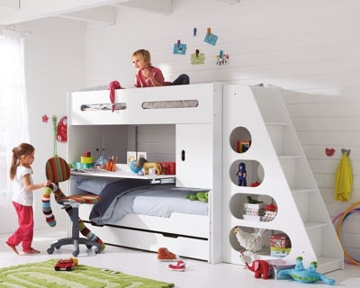 bunk bed + desk + storage - all in one ;-)
