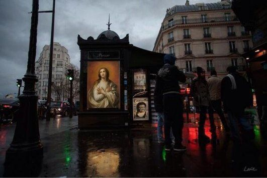 How to make Paris even more beautiful? Replace the ads with classical paintings.
