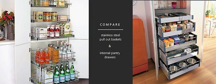 Kitchen Storage: Baskets VS Drawers #kitchenstorage #kitchenideas