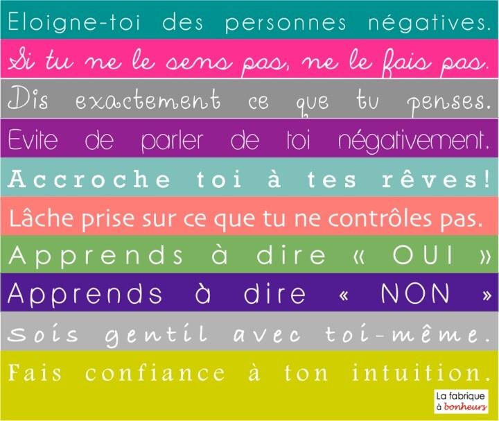 Les dix commandements de La fabrique à bonheurs
