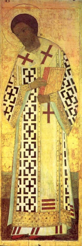 St John Chrystostom, by Andrei Rublev and Daniil Cherny workshop, 1408.