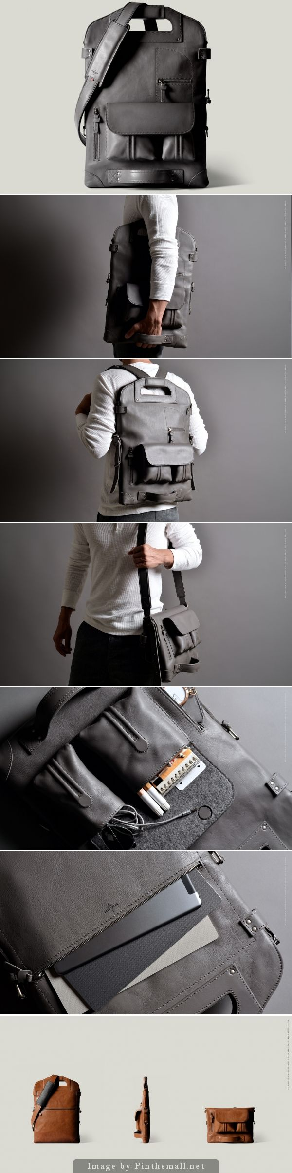 Good grief, this bag is amazing! - 2Unfold Laptop Bag - by Hard Graft. | About $800 USD. Well done @hardgraft!