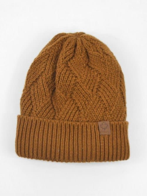 Outdoor Warm Flanging Cross Knitted Beanie | Hat, Cap, Beanie, Knit ...