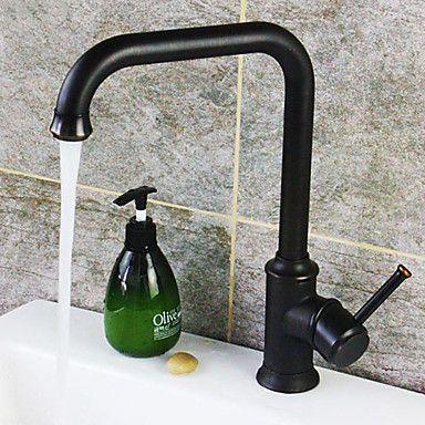 Öl-rieb Bronze Finish Einhand-Messing Waschbecken Wasserhahn – EUR € 103.14
