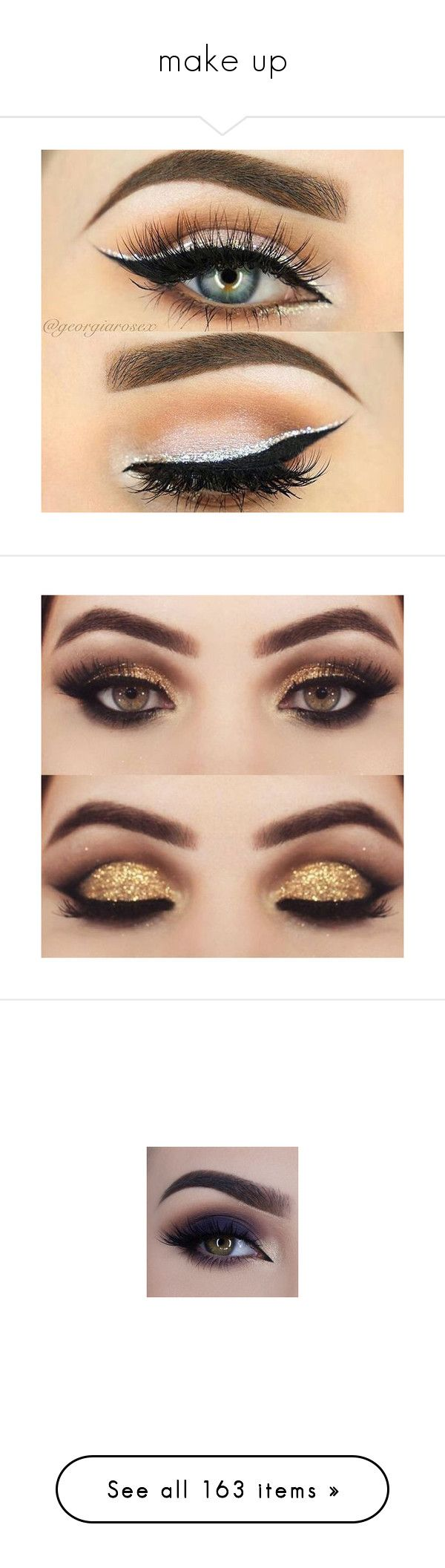 """make up"" by sassysuzyq ❤ liked on Polyvore featuring beauty products, makeup, eye makeup, eyeliner, eyeshadow, eyes, beauty, maquiagem, eye look and orca"