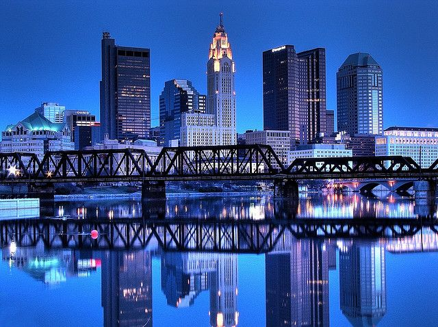 Columbus skyline.  Photo by Matt Kazmierksi