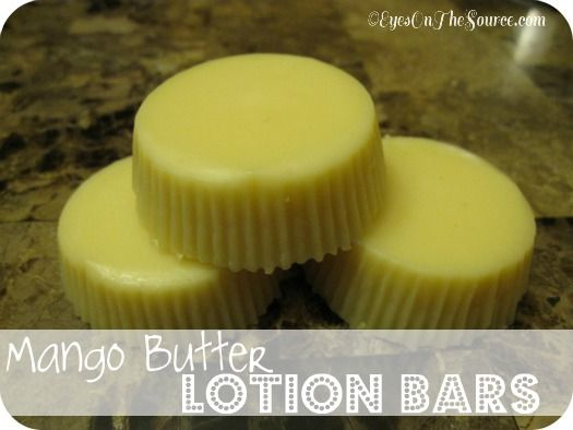 Mango Butter Lotion Bars!  Super easy, make in the crockpot, perfect for dry winter skin!