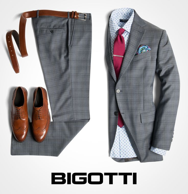 #Grey #plaid #suit – #perfect #choice for this #season ! #New #collection is…
