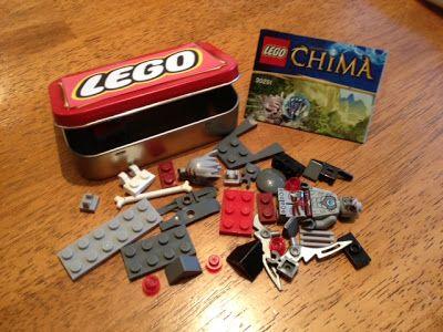 Altoid tin holds Lego mini set