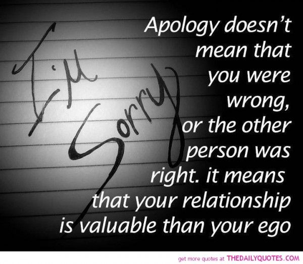 Sorry Love Quote: 31 Best Images About I'AM SORRY On Pinterest