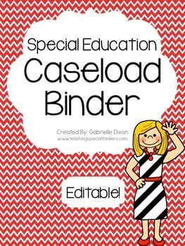*Newly Updated for 2014-2015 School Year!* I create a new caseload binder every year. It holds all the information I need access to daily on my students. I refer to it daily when lesson planning, during meetings, and when I am surprised by a parent phone call/visit about a student.