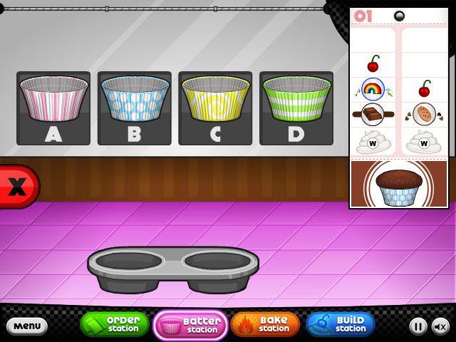 papas cupcakeria primary games