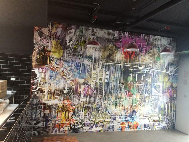 Graffiti mural shop