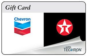Buy $100 ChevronTexaco Gas Gift Card For Only $92!!  FREE Mail Delivery