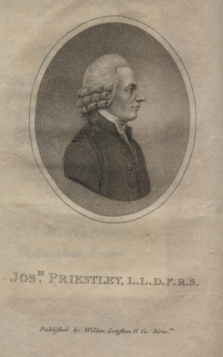 joseph priestley s life and work Yet, priestley was also a controversial figure whose views were so odious to some of his countrymen that his house, fair hill in birmingham, was burned in a riot, and he and his family left england priestley spent the last ten years of his life in northumberland, pennsylvania, where he continued his work in science, religion,.