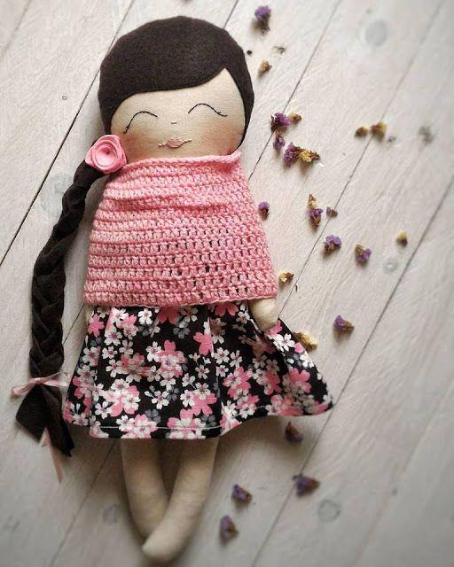 HandMade by Gio: Bambole di stoffa- Tiny Flowers Doll
