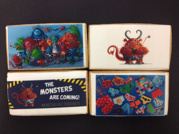 Monsters Love Underpants biscuits to celebrate Waterstone Ringwood's book of the month