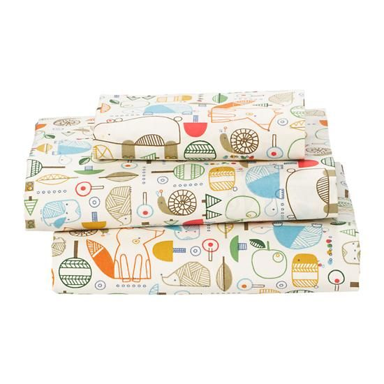 Nature Trail Toddler Sheet Set - perfect for a woodland nursery or toddler room!