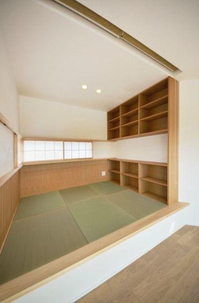 書斎スペース(和モダンの家)- 書斎事例