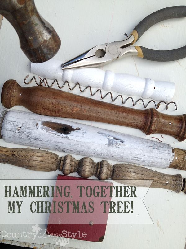 """Christmas decorating ideas using junk around the house. I made a """"Mr. Brown's"""" Christmas tree for the decorating idea today."""