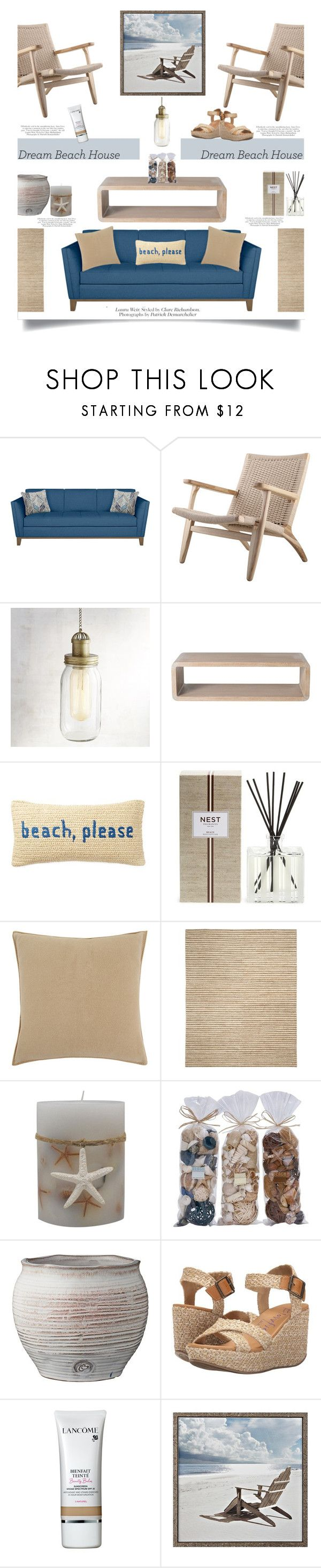 """Vacation Vibes: Dream Beach House'"" by dianefantasy ❤ liked on Polyvore featuring interior, interiors, interior design, home, home decor, interior decorating, Pier 1 Imports, McGuire, Nordstrom Rack and Nest Fragrances"