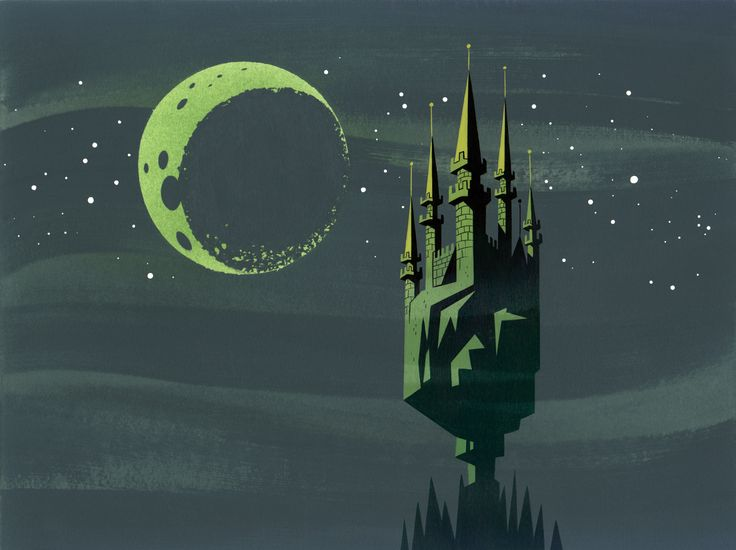 Animation Backgrounds painted by Scott Wills