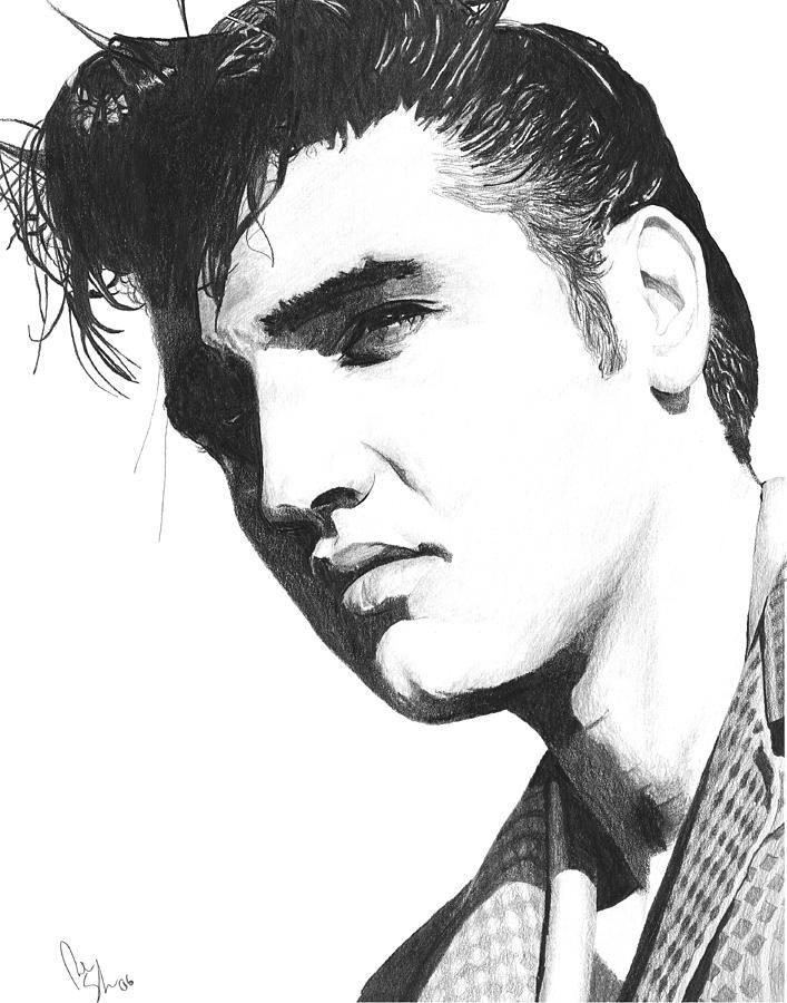 Elvis High Contrast Sketch