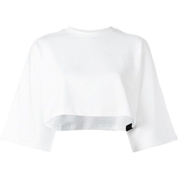 Puma 'by Rihanna' cropped sweatshirt (3,145 DOP) ❤ liked on Polyvore featuring tops, hoodies, sweatshirts, white, puma sweatshirt, white sweatshirt, white top, cropped sweatshirt and cut-out crop tops