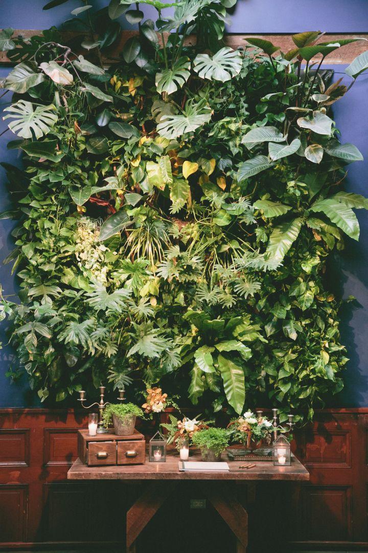 Photo: onelove photography; Botanical Garden Inspired California Wedding - fabulous wedding guestbook table!