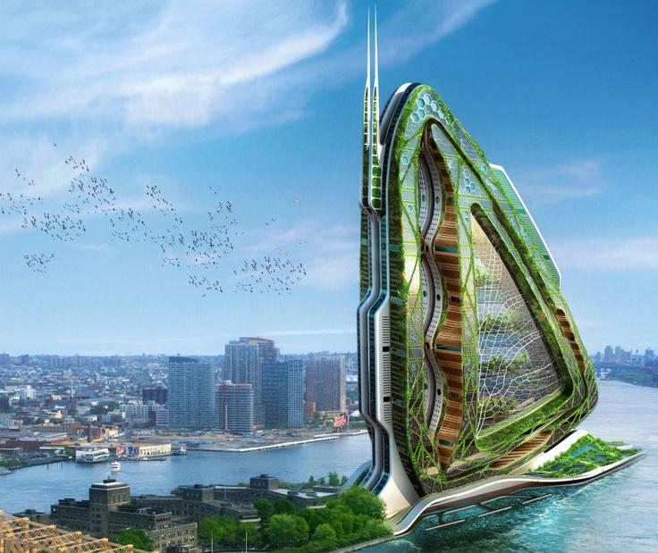 Dragonfly Vertical Farm concept by Vincent Callebaut