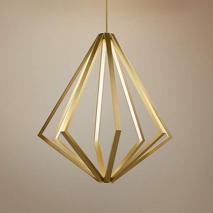Elan Everest 32″ Wide Champagne Gold 8-Light LED Chandelier – #69F27 | Lamps Plus