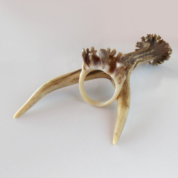 deer antler ring ring for unisex jewelry rustic