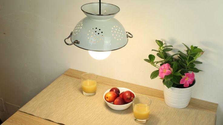 8 Prodigious Unique Ideas Lamp Shades Repurpose Lamp: Best 25+ Colander Light Ideas On Pinterest