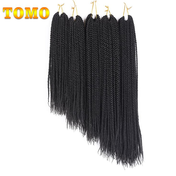"TOMO 14"" 16"" 18"" 20"" 22"" Ombre Synthetic Crochet Braids for Braiding Hair 30strands Senegalese Twist Crochet Hair Extensions"