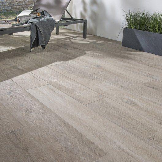 Carrelage brun clair effet bois Heritage l.20 x L.120 cm