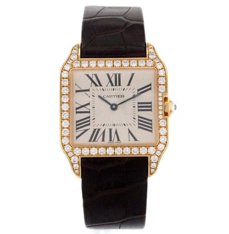 Ladies Cartier Santos-Dumont 18K Rose Gold! £16,001.44 Blowabag.com #Cartier #Womens #Watches #WatchPorn #Luxury