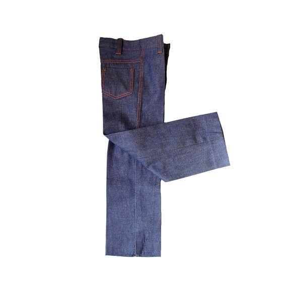 VINTAGE 70's / enfant / pantalon / jeans / toile denim