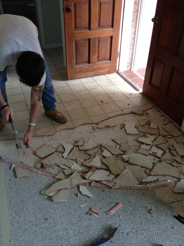 Removing Tile So We Can Get To That Beautiful Terrazzo