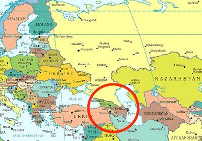 Caucasus Mountains Map Location | Caucasus Mountains On World Map ...