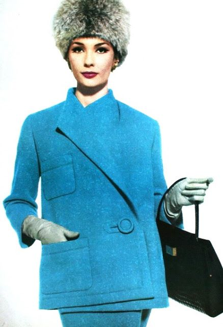 Winter 1961/1962. Suit Nina Ricci, Vogue