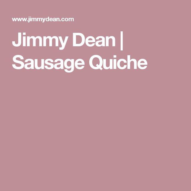 Jimmy Dean | Sausage Quiche